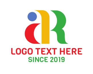 Ar - Colorful Minimalist AR logo design
