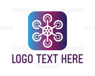 Blue And Purple - Purple Drone logo design