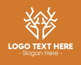 Chital - Modern Antlers logo design