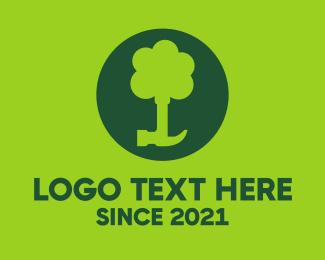 Hammer - Tree & Hammer logo design