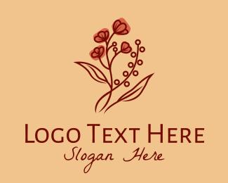 Organic Product - Buttercup Flower  logo design