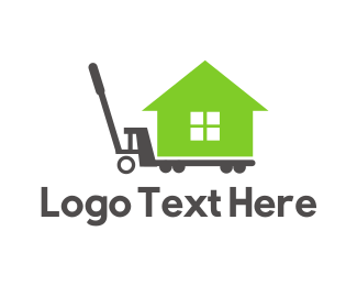 Hauling - Moving House logo design