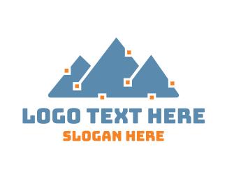 Electrician - Analytic Peak logo design
