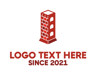 Fireplace - Chimney Tower logo design