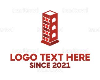 Bricklayer - Chimney Tower logo design