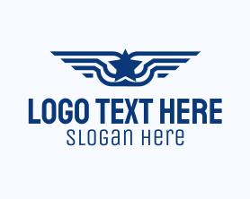 Authority - Star Wings Emblem logo design