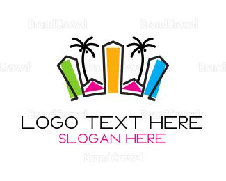 Cuba - Tropical City logo design