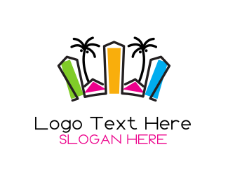 Resort - Tropical City logo design