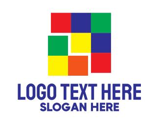 Rubik - Colorful Squares logo design
