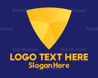 Fortune - Gold Shield logo design