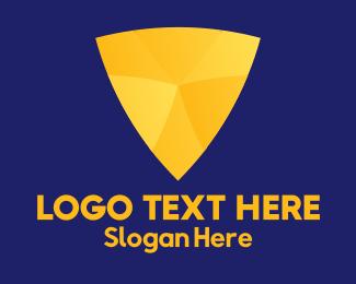 Pick - Gold Shield logo design