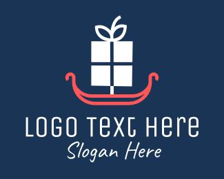 Parcel - Minimalist Gift Gondola logo design