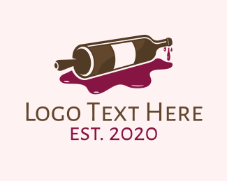 Liqueur - Red Wine Rolling Pin logo design