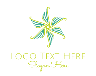Ornamental - Flower Rotation logo design