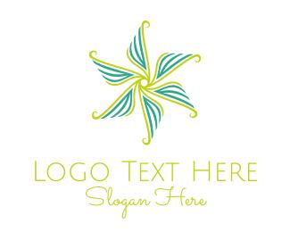 Botanical - Flower Rotation logo design