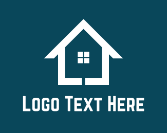 Home - White Home logo design