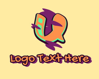 Arts - Graffiti Art Letter U logo design