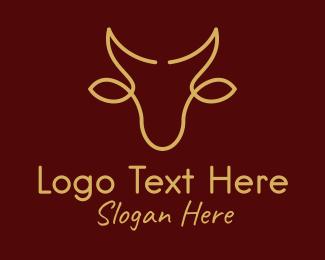 Spanish - Minimalist Bull Head  logo design