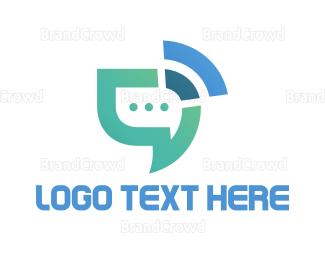 Social - Chat Signal logo design