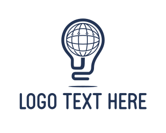 Sphere - Globe Light logo design