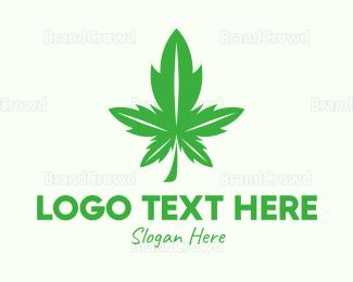Joint - Leaf Cannabis logo design