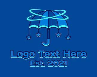 Cosmo - Orbital Umbrella  Star  logo design