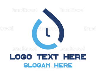 Liquid - Abstract Water Drop logo design