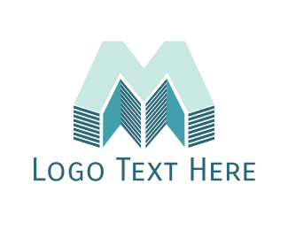 Manhattan - Realty Letter M logo design