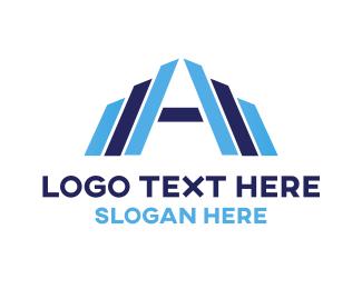 Letter A - Letter A Building logo design