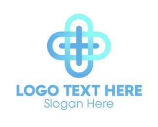 Medical Worker - Professional Blue Cross logo design
