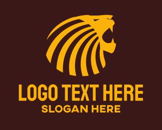 African - Lion Roar logo design
