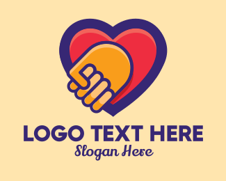Caregiving - Heart Hand Care Support logo design