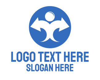 Stock Market - Marketing Man logo design