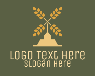 Wheat - Wheat Windmill Farm logo design