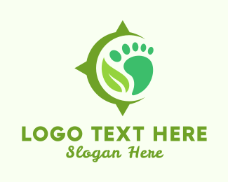Footprint - Foot & Leaf logo design