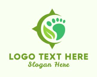 Footprint - Foot & Leaf logo design