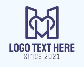 Cardiology - Blue Structure Buildings logo design