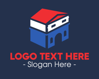 French - French House logo design