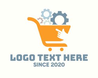 Wheels - Online Gears Shopping logo design