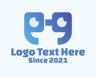 Quote - Geek Eyeglass Quote logo design