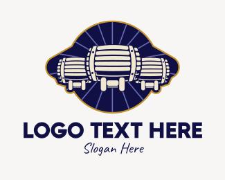 Bar - Beer Barrels Bar logo design