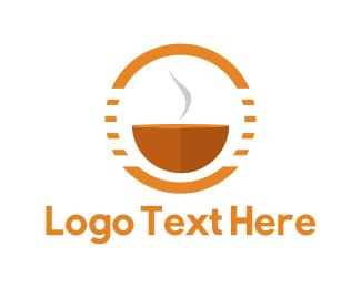 Aroma - Hot Bowl logo design