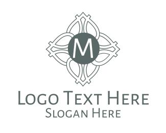Architectural - Monochrome Celtic Lettermark logo design