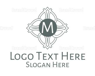 Cultural - Monochrome Celtic Lettermark logo design