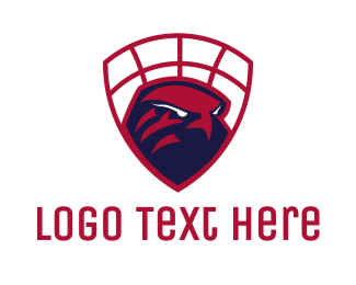 Red Hawk - Falcon Basketball  logo design