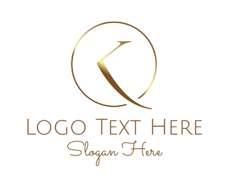 Metallic - Metallic Golden Clock logo design