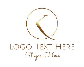 Watch - Metallic Golden Clock logo design