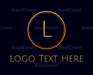 """Elegant Text Circle"" by BrandCrowd"