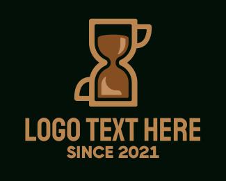 Countdown - Coffee Hourglass logo design