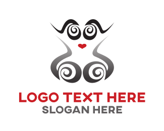 Future - Lady Robot logo design